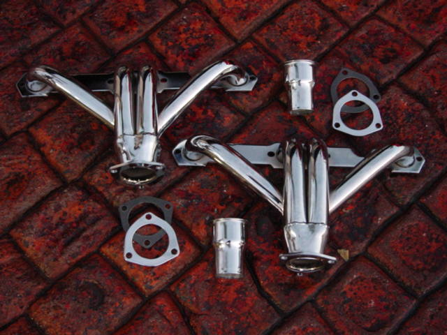 McJacks Corvette Chrome and Ceramic Coated headers and Exhaust for