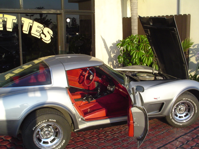 78 Corvette Silver Anniversary With Red Interior Rare 4